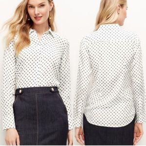 Ann Taylor Bumble Bee Silk Perfect Shirt